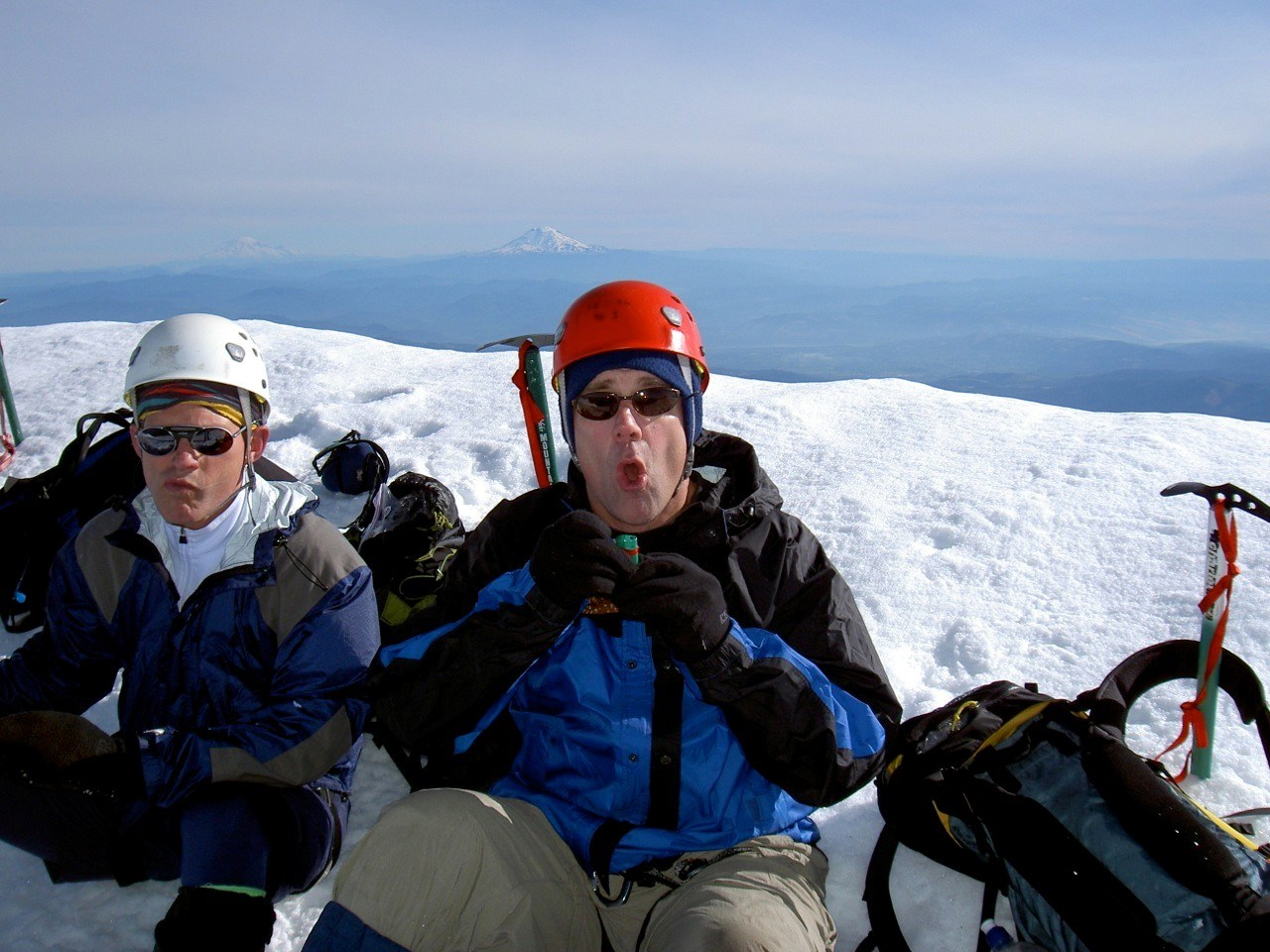 Scott Summiting Mt. Hood for His 50th birthday
