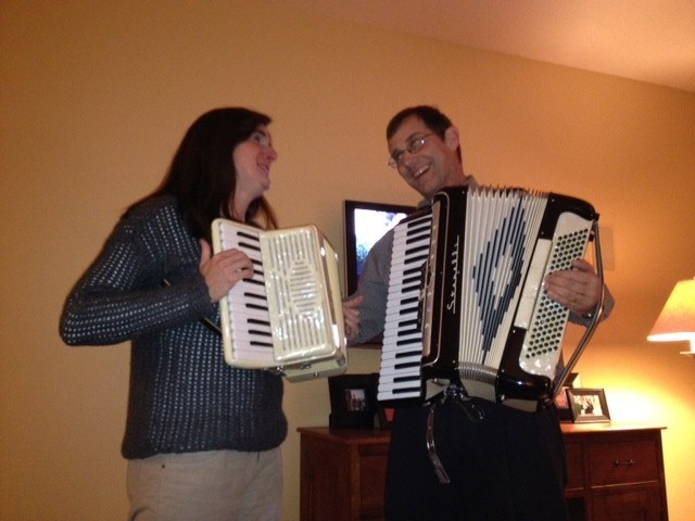 An awesome and EXTREMELY patient accordion teacher!!!!