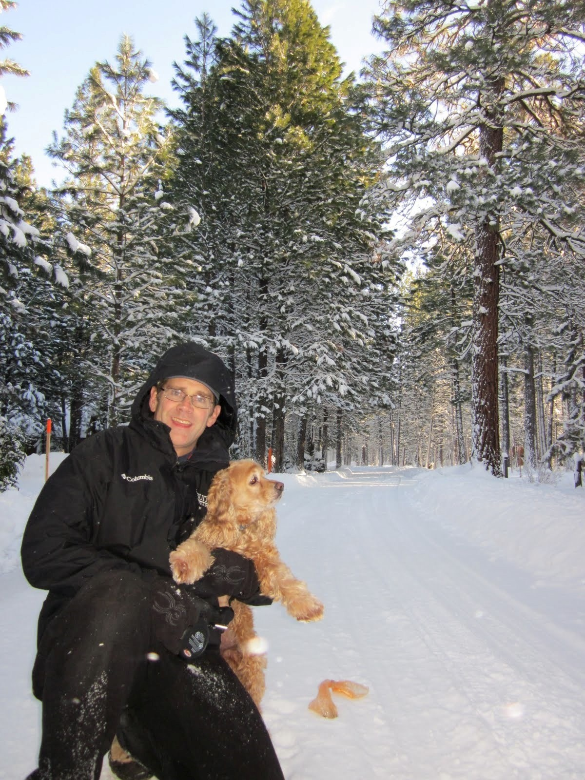 Scott with Zoé the Snow Dog