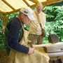 Scott woodworking at Ft. Clatsop 2012