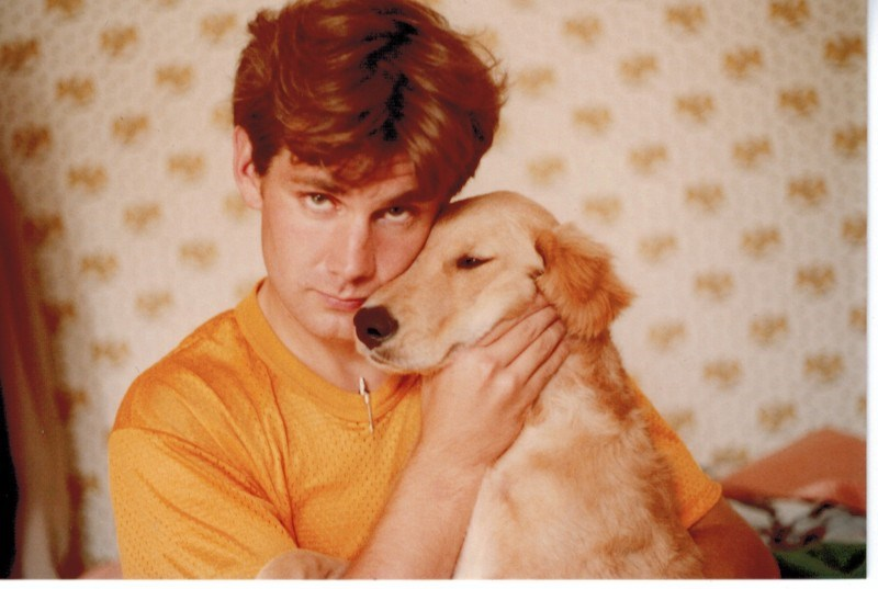 Scott with Ned's Dog - 1981