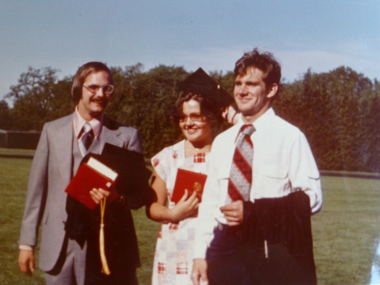 Willamette Years: Graduation, May 1977: Herb, Mary, Scott