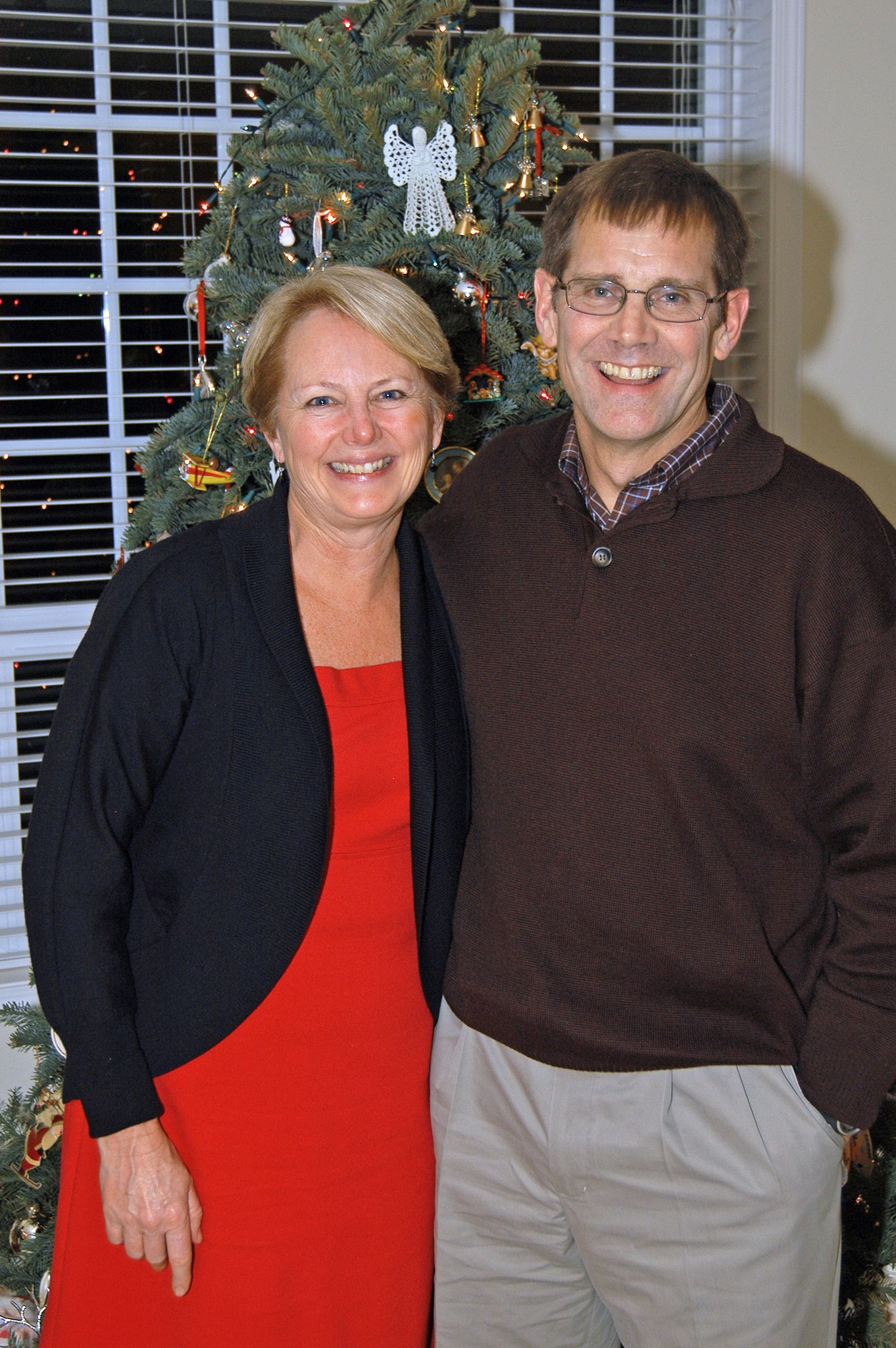 Scott and Maureen, annual Pinochle Christmas dinner, 2011