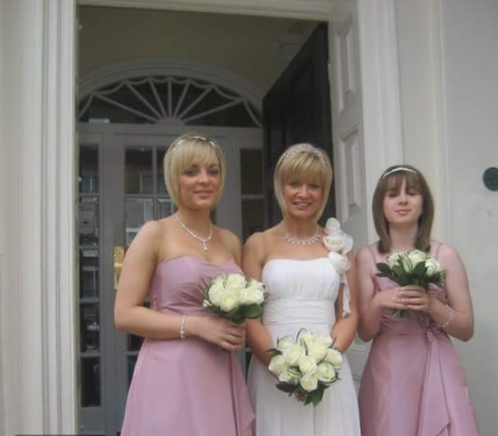 Me mam and you on mam and dads wedding day. We miss you and think of you everyday..nothing will be the same again xxx