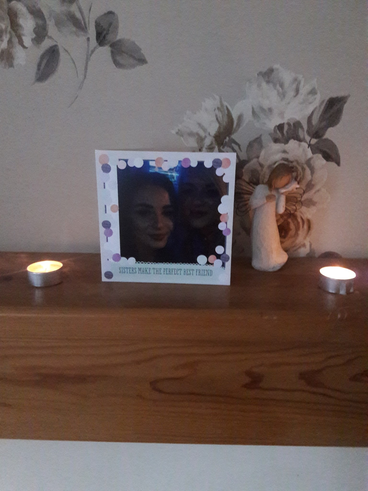Sisters make the perfect best friend. A candle lit for you and Mackean on your birthdays xxx