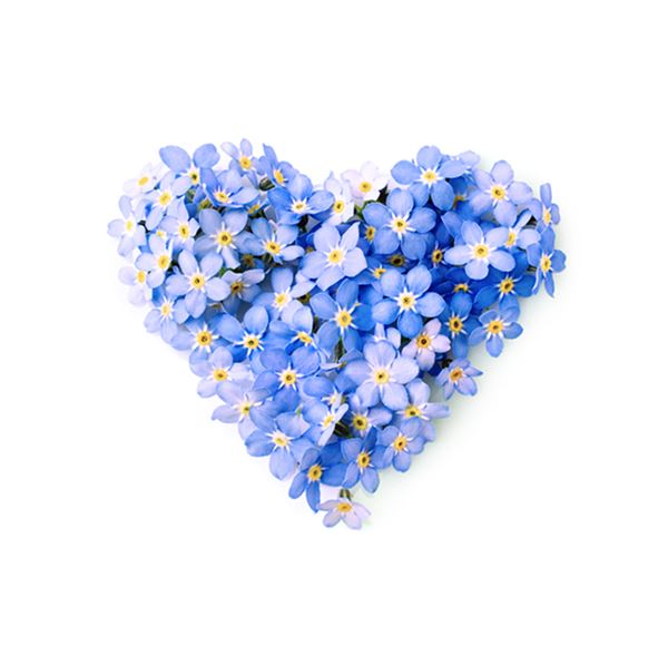 FORGET-ME-NOT HEART - sent on April 22nd, 2021